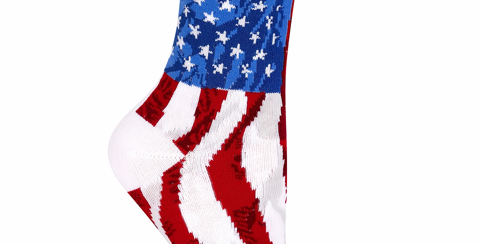 American Flag design Crew Socks