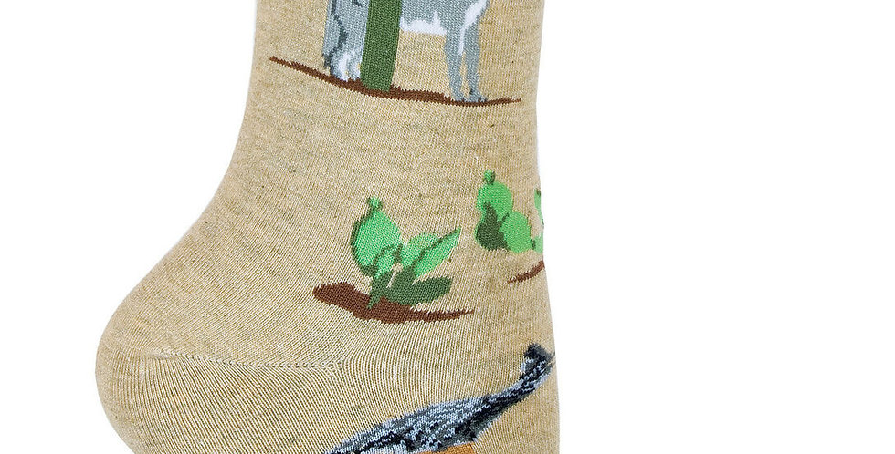 Desert Life Lightweight Crew Socks on Khaki