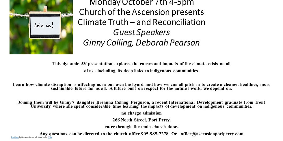 Church of Ascension - Climate Change and Reconciliation