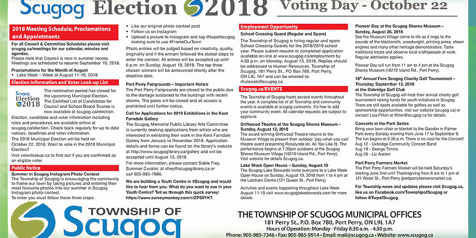 Elections for Scugog