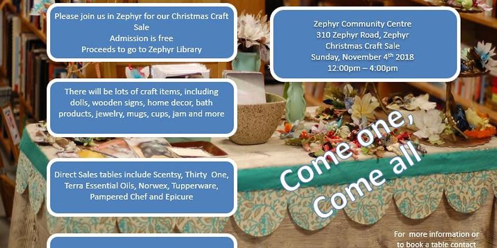 Zephyr Christmas Craft Sale