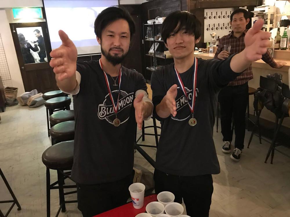 準優勝は 新宿ハングアウトハングオーバー の石谷拓己&吉田広樹