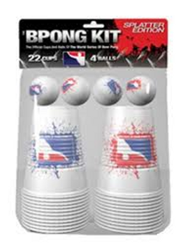 BPONG KIT SPLATTER EDITION 22 CUPS AND 4 BALLS