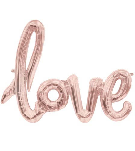 "40"" Script 'Love' Balloon"
