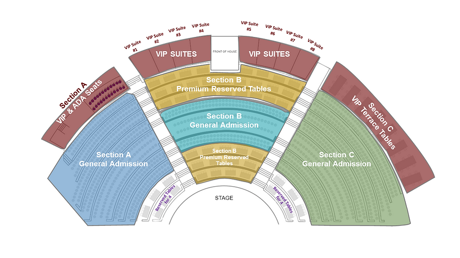 Bowl seating chart with suggested ticket