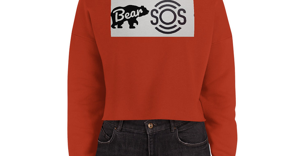 Bear S.O.S Crop Sweatshirt