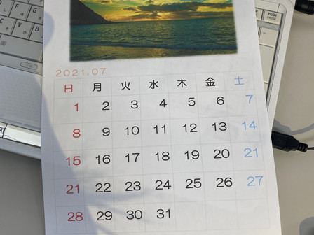 パソコン村大村教室 おふたり一緒にWORDでカレンダーを作成