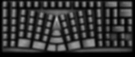 美しいレイアウトのキーボード