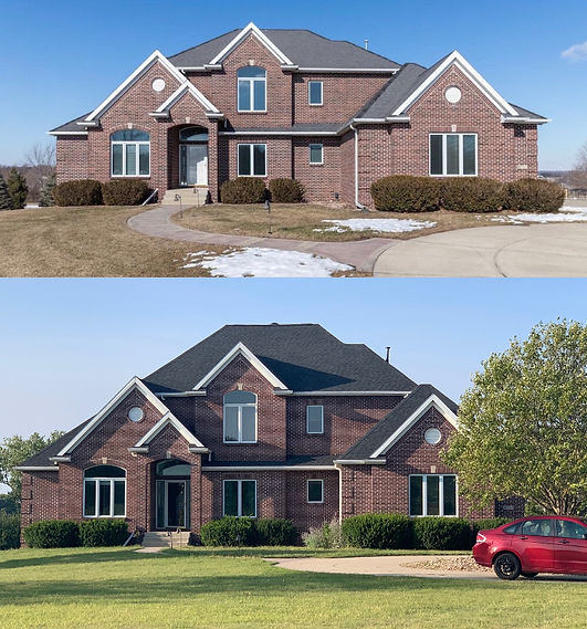 Roof Replacement Before and After
