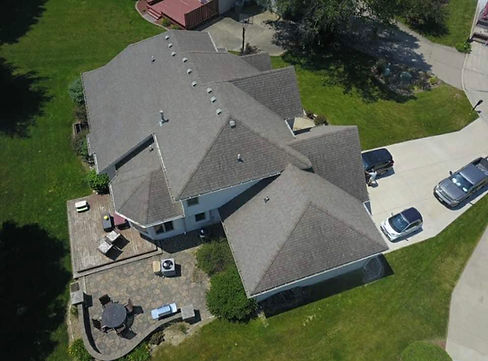 Drone Roof Footage