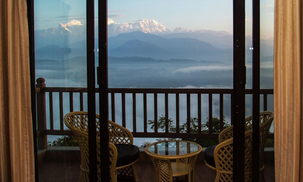 Rupakot Resort - Balkon