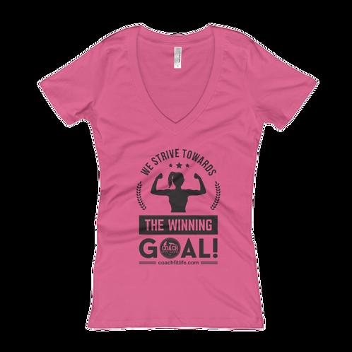 The Winning Goal Women's Deep V-Neck T-Shirt