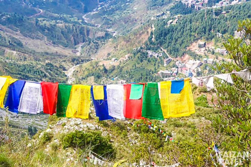 You find prayer flags through out your trek up.