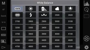 White balance setting