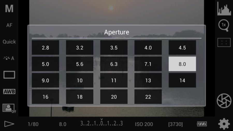 Aperture options