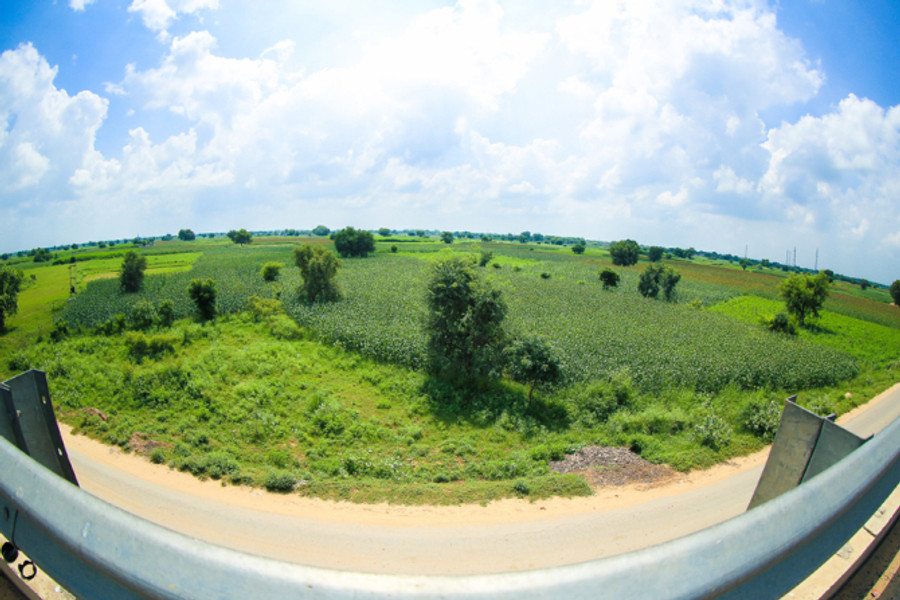 View on the Delhi - Jaipur Highway