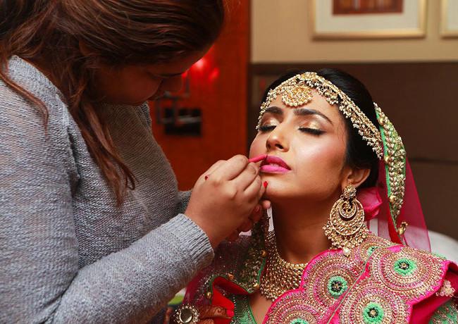 Mahima's makeup session