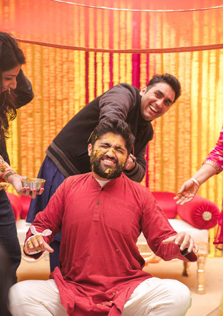 Kunal during his haldi ceremony