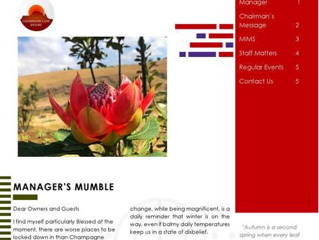 Autumn 2020 Newsletter