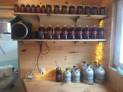 shelves are stocked