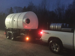 Full truck and trailer for the expan