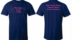 Cancer research fund raising shirts