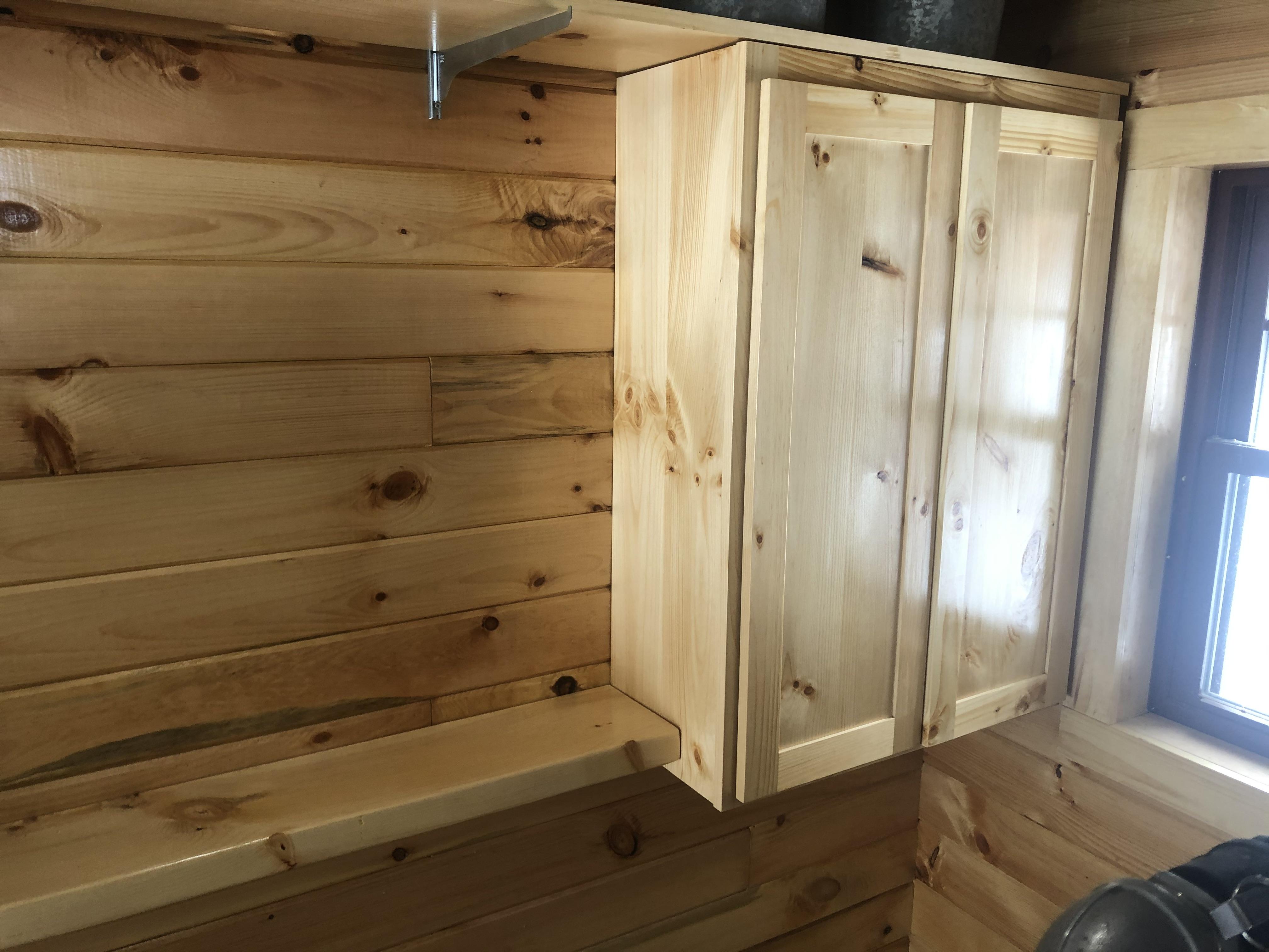 custom pine cabinets