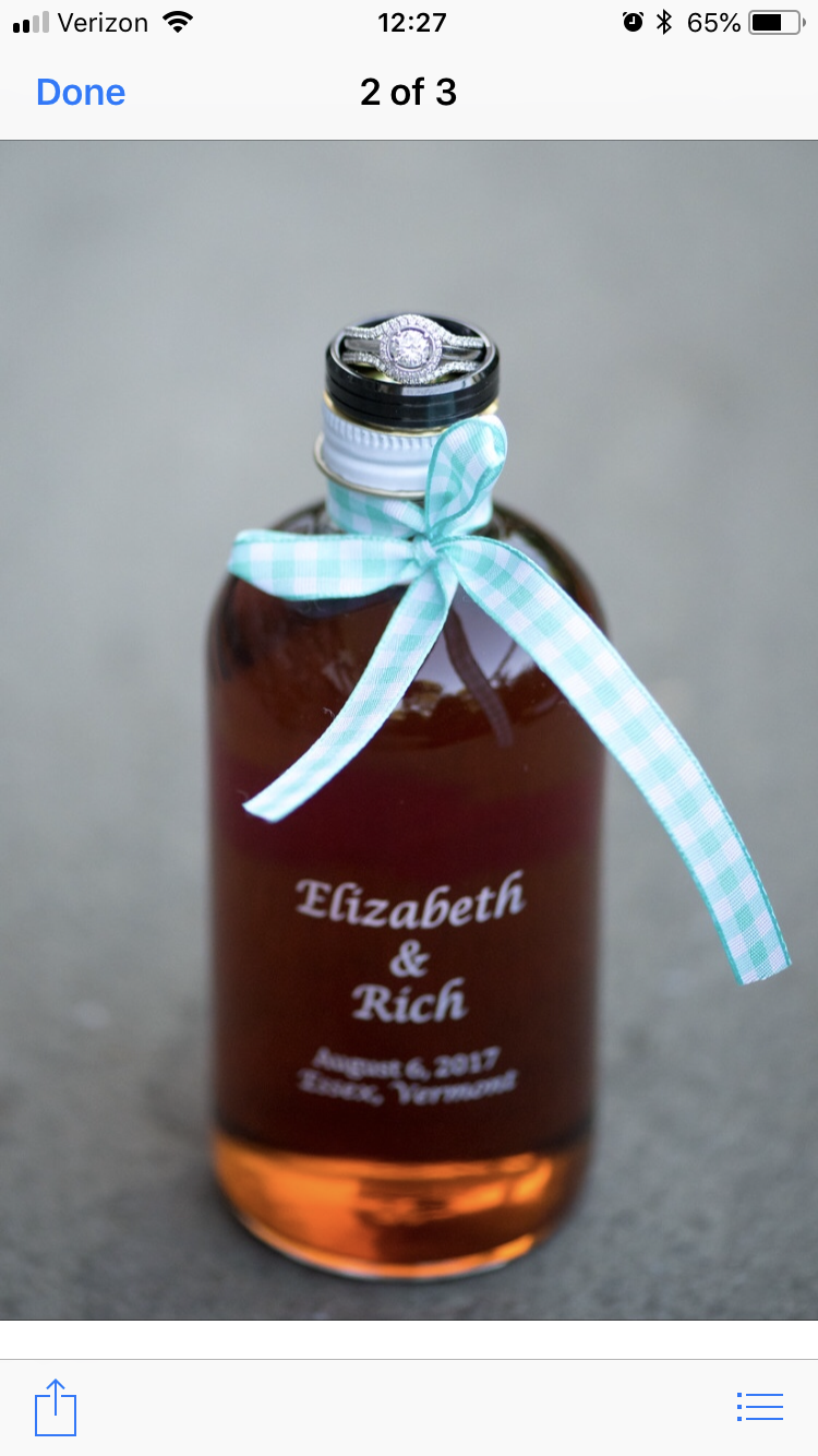 Maple Wedding Favors