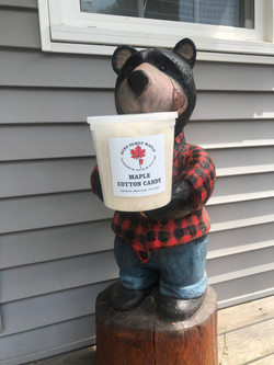 our bear loves maple cotton candy