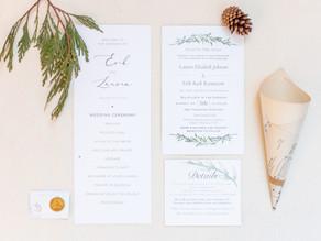 Erik & Lauren | Minnesota Winter Wedding Details