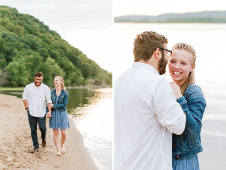 Beach Engagement Session on the Mississippi