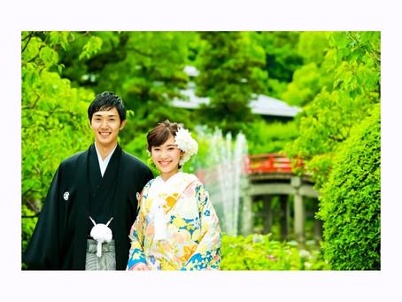 日本の結婚式 太宰府天満宮写真
