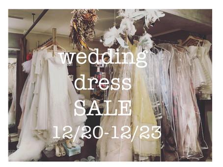 12月のウェデングドレス販売会