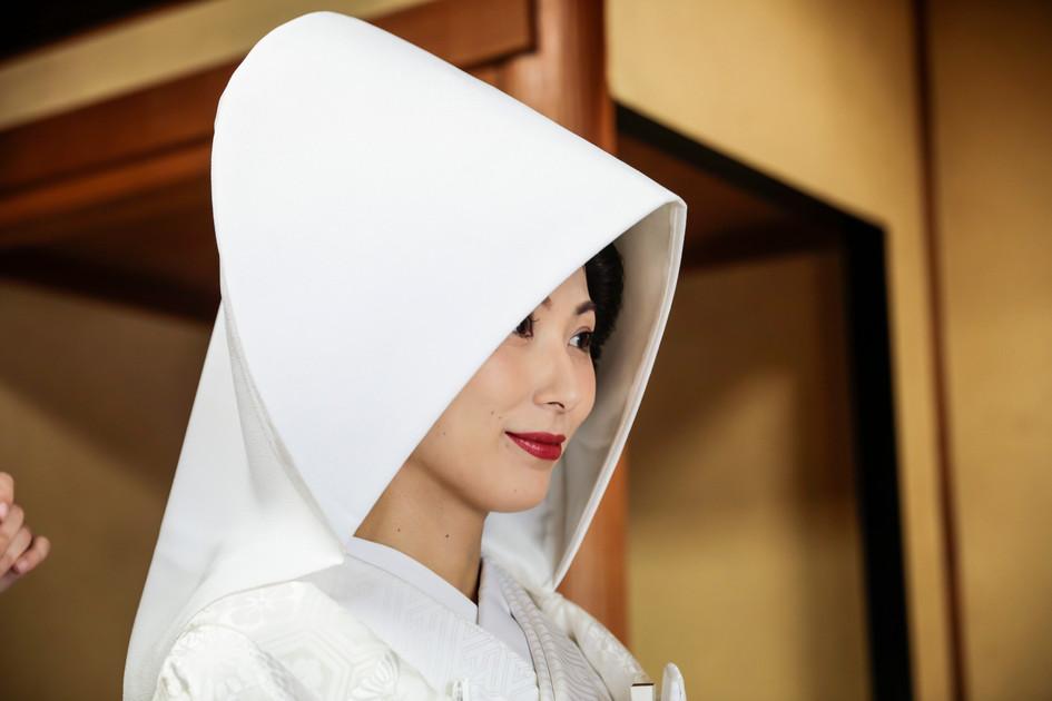 白無垢・綿帽子
