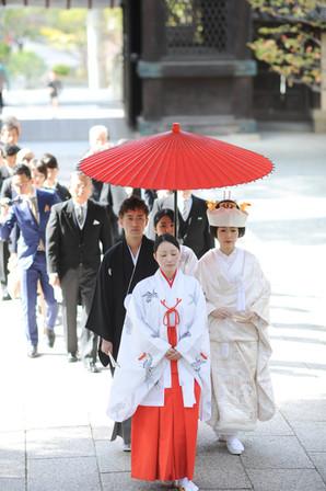 香椎宮での神社挙式