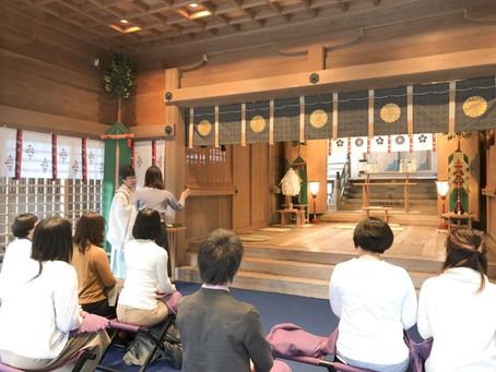 神社でお勉強女子会