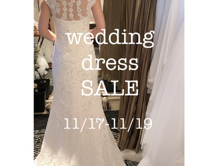 11月のウェディングドレス販売会