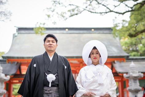 住吉神社で神前結婚式