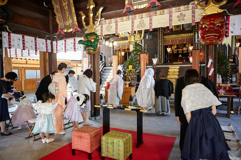 櫛田神社で神前結婚式