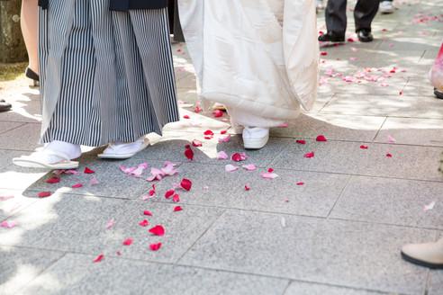 仏前結婚式の参進