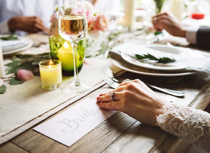 Landing at Homebush, Masterton - Bride at the Table