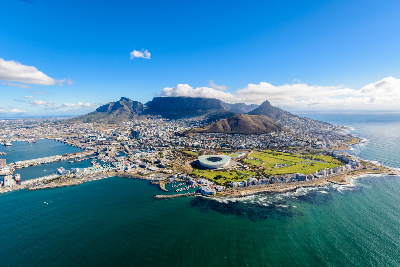Ariel view of the City of Cape Town