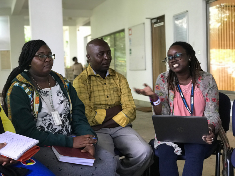 Patricia, Javan and Martha, at KEMRI's  Campus