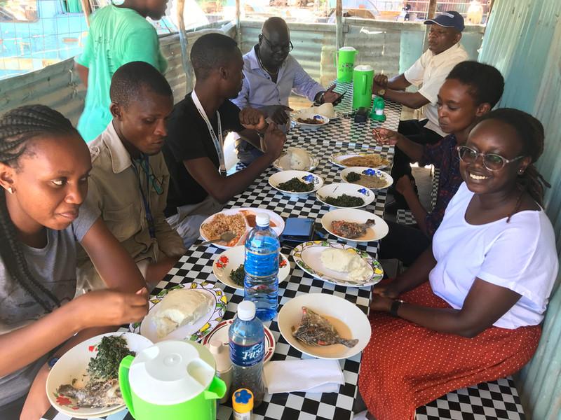 Lunch at Mama Safi, Kilifi