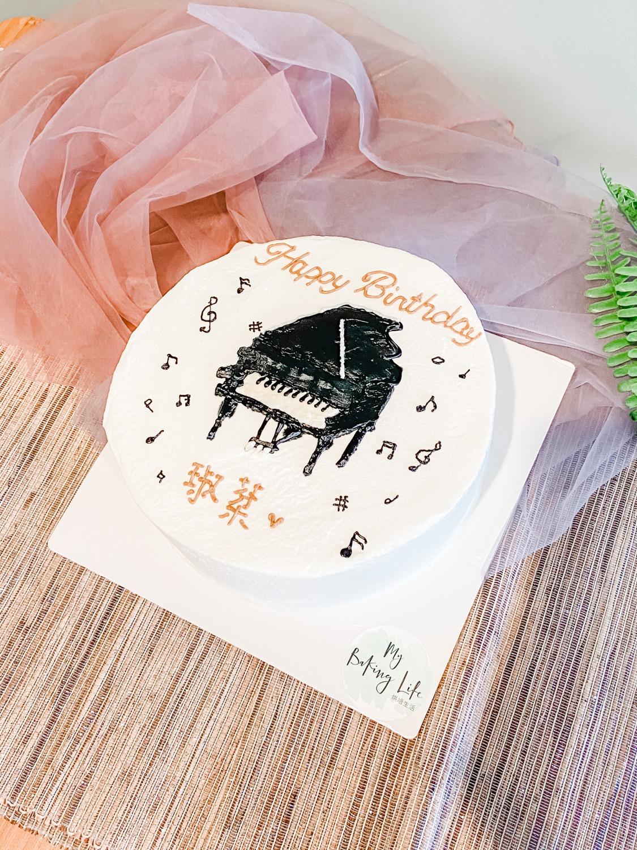 手繪鋼琴小清新蛋糕