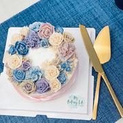 Piping floral cake裱花蛋糕5