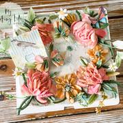 刮刀花蛋糕