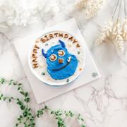 手繪毛怪蛋糕 custom birthday cake- cartoon 1
