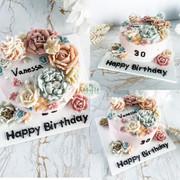 Piping floral cake裱花蛋糕3