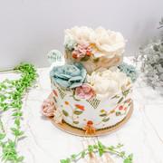 雙層裱花蛋糕